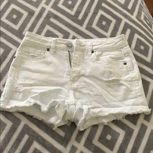 White Aeropostale Jean Shorts